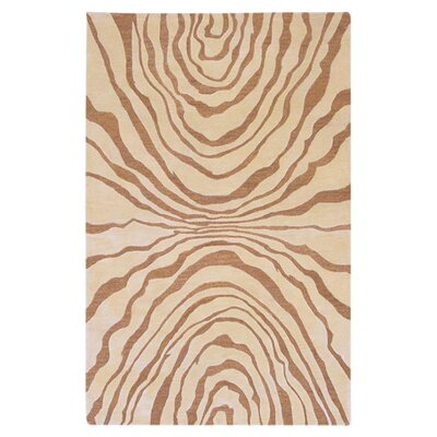 Halpin Beige/Caramel Rug Rug Size: Rectangle 8 x 11