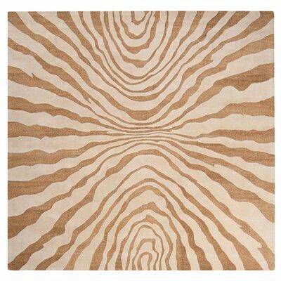 Halpin Beige/Caramel Rug Rug Size: Square 8