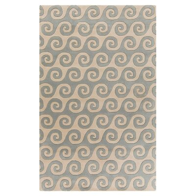 Brickyard Light Gray/Cream Area Rug Rug Size: Rectangle 5 x 8