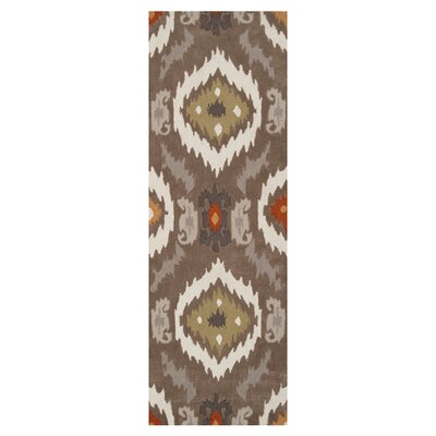 Dolly Brown/Beige Rug Rug Size: Runner 26 x 8