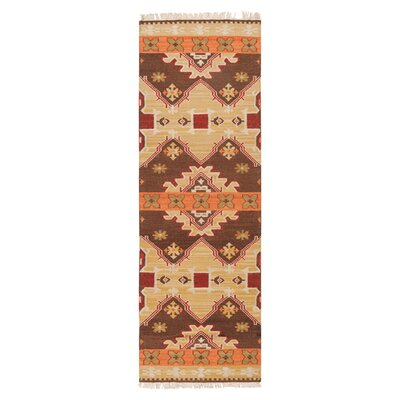 Wellsville Chocolate/Orange Rug Rug Size: Runner 26 x 8