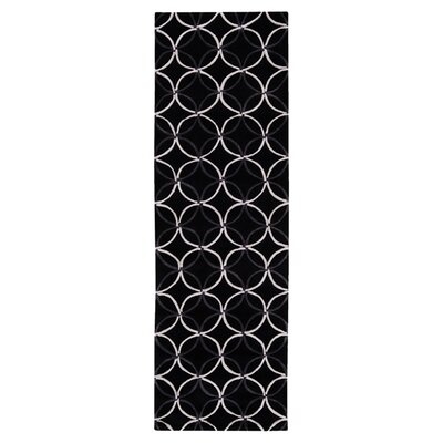 Sawyer Black Area Rug Rug Size: Runner 2'6