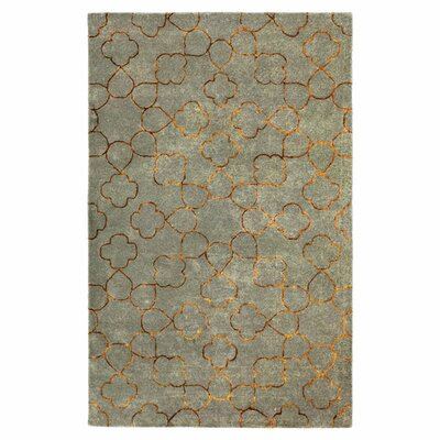 Jensen Foggy Blue Area Rug Rug Size: Rectangle 33 x 53