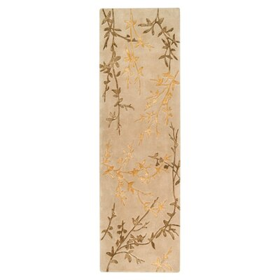 Gonzalo Tan/Gold Rug Rug Size: Runner 26 x 8