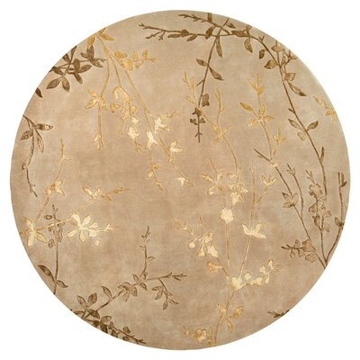 Gonzalo Tan/Gold Rug Rug Size: Round 8