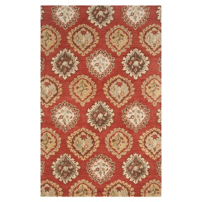 Vesta Carmine Hand-Tufted Burnt Sienna Area Rug Rug Size: Rectangle 2 x 3