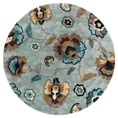 Marcellus Hand Tufted Blue Haze Area Rug Rug Size: Round 8