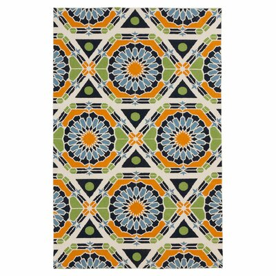 Alicia Federal Blue/Peridot Rug Rug Size: Rectangle 2 x 3