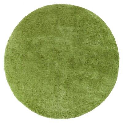 Braun Hand Woven Fern Green Area Rug Rug Size: Round 8