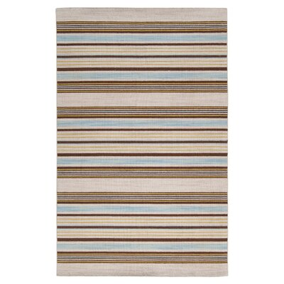 Carressa Kelp Brown Striped Area Rug Rug Size: 2' x 3'