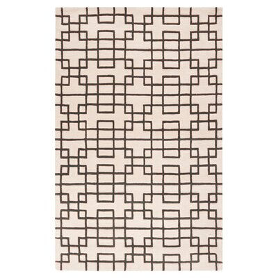 Jessenia Beige/Black Area Rug Rug Size: Rectangle 2 x 3