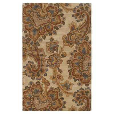 Busch Ivory & Brown Area Rug Rug Size: Rectangle 33 x 53