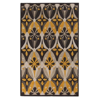 Erik Hand-Tufted Brown/Yellow Area Rug Rug Size: 5 x 8