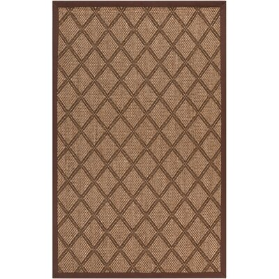 Tomoe Golden Brown Area Rug Rug Size: 9 x 13