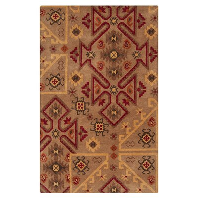 Wheatland Hand Woven Wool Brown/Red Area Rug Rug Size: Rectangle 2 x 3