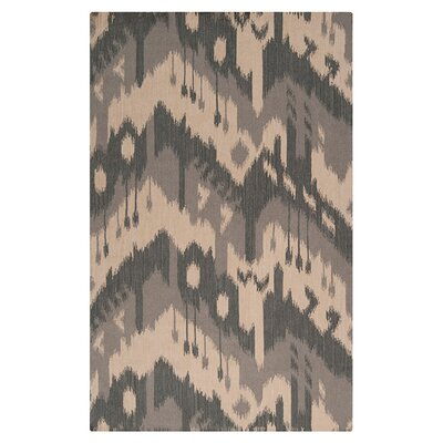 Double Mountain Hand Woven Wool Parchment/Gray Area Rug Rug Size: Rectangle 8 x 11