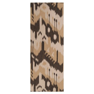 Double Mountain Bronze/Dark Khaki �Rug Rug Size: Runner 26 x 8