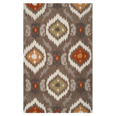 Dolly Brown/Beige Rug Rug Size: 2 x 3