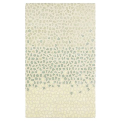 Brickyard Bone/Malachite Green Rug Rug Size: 5 x 8