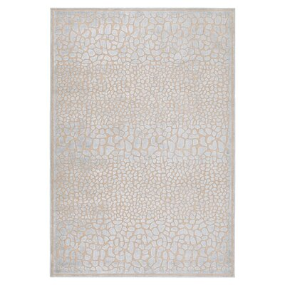 Markita Taupe Area Rug Size: Rectangle 4 x 57
