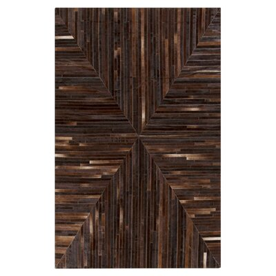 Horton Hand Woven Chocolate Area Rug Rug Size: Rectangle 2 x 3