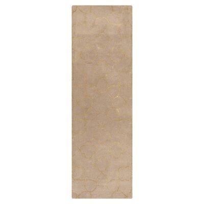 Jensen Hand Tufted Wool Beige Area Rug Rug Size: Runner 26 x 8