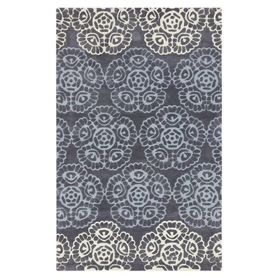Kaufman Flint Gray/Light Gray Rug Rug Size: Rectangle 36 x 56
