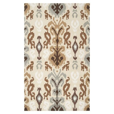 Aime Putty Area Rug Rug Size: 36 x 56