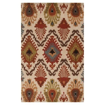 Bremner Hand-Tufted Orange/Brown Area Rug Rug Size: 2 x 3
