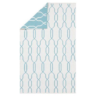 Radnor White/Blue Area Rug Rug Size: Rectangle 5' x 8'