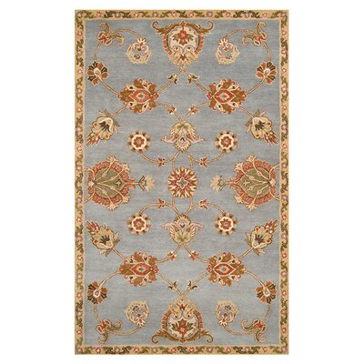Vesta Hand-Tufted Light Blue Area Rug Rug Size: 5 x 8