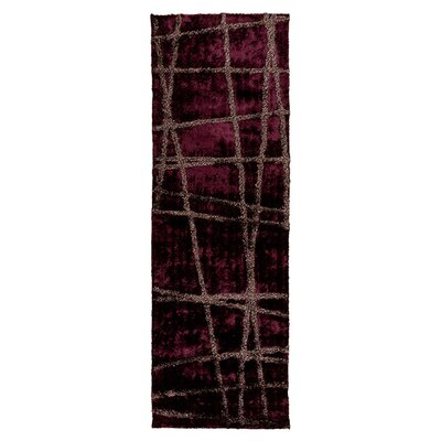 Halterman Wine/Raisin Geometric Area Rug Rug Size: Runner 26 x 8