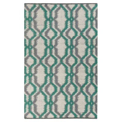 Halycon Winter White Area Rug Rug Size: 33 x 53
