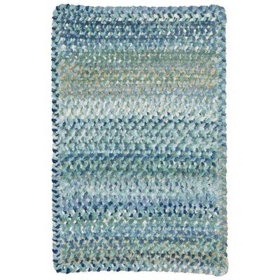 Wilhelmine Light Blue Area Rug Rug Size: Oval 114 x 144