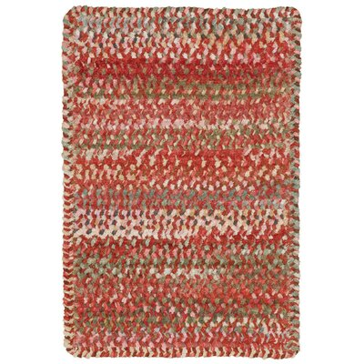 Wilhelmine Orange Area Rug Rug Size: Oval 114 x 144