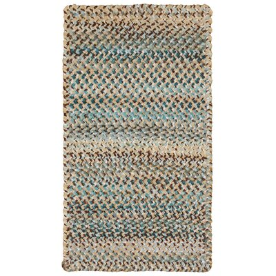 Wilhelmine Deep Blue Area Rug Rug Size: Oval 23 x 9