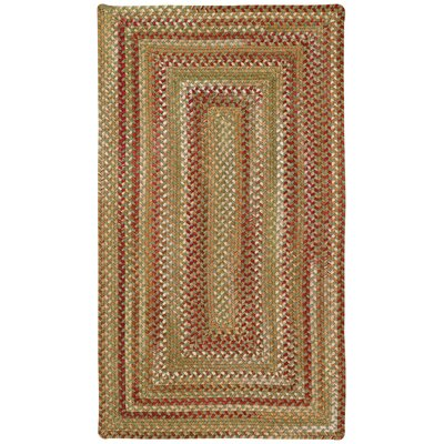 Holcombe Sage Red Hues Area Rug Rug Size: Oval 92 x 132