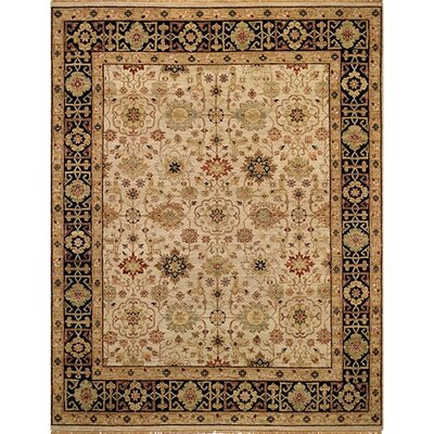 Gloria Kuba Beige/Ebony Area Rug Rug Size: Rectangle 9' x 12'