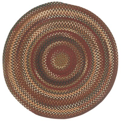 Bangor Cinnamon Variegated Area Rug Rug Size: Round 13