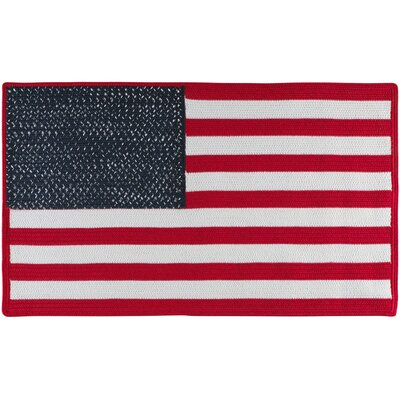 Glory Patriotic Red/White Area Rug Rug Size: Rectangle 15 x 23