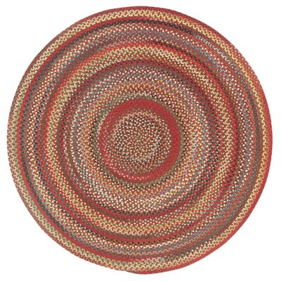 Portland Red Variegated Area Rug Rug Size: Oval 114 x 144