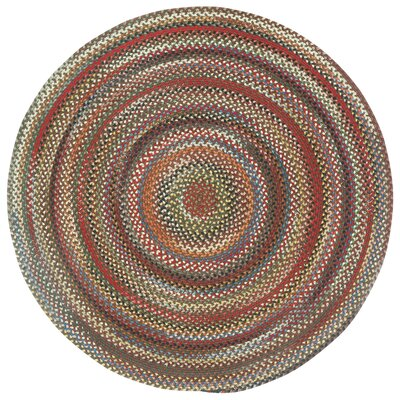 Burdock Brown Variegated Area Rug Rug Size: Round 3