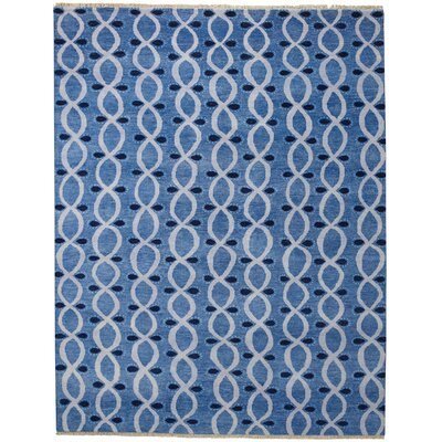 Eternity Blue Trellis Area Rug Rug Size: 8 x 11