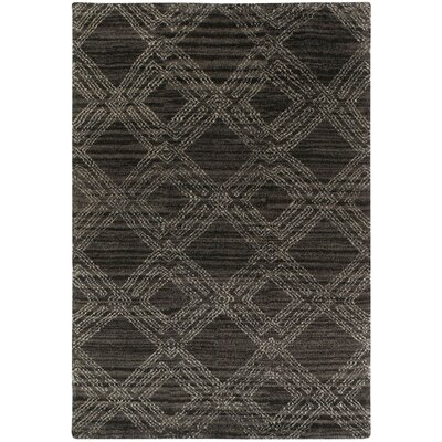 Fortress Black/Gray Geometric Area Rug Rug Size: 5 x 8