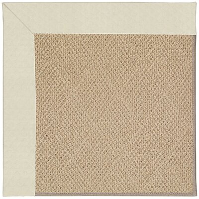 Zoe Machine Tufted Cream/Beige Indoor/Outdoor Area Rug Rug Size: Square 10