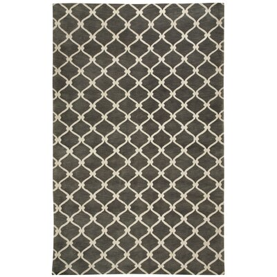 Cococozy Light Charcoal / Ivory Picket Area Rug Rug Size: 8 x 11