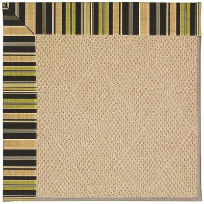Zoe Machine Tufted Charcoal/Brown Indoor/Outdoor Area Rug Rug Size: Round 12 x 12