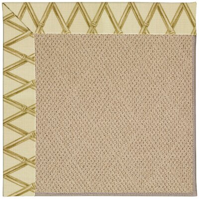 Zoe Machine Tufted Bamboo Indoor/Outdoor Area Rug Rug Size: Square 4