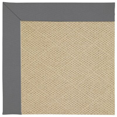 Zoe Machine Tufted Ash/Brown Indoor/Outdoor Area Rug Rug Size: Square 10
