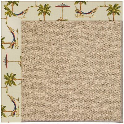 Zoe Machine Tufted Beige Indoor/Outdoor Area Rug Rug Size: Square 6